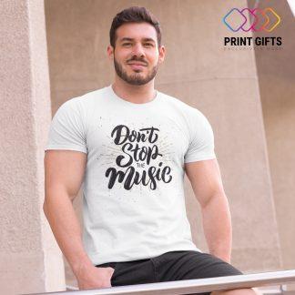 Мъжка Тениска Dont stop the Music