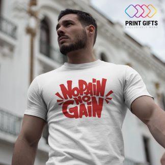 Мъжка Тениска NO PAIN NO GAIN RED
