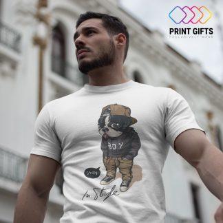 Мъжка Тениска STAY IN STYLE DOG