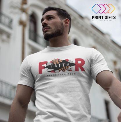 Мъжка тениска FAITH OVER FEAR