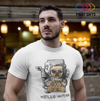 Мъжка тениска Hello Human